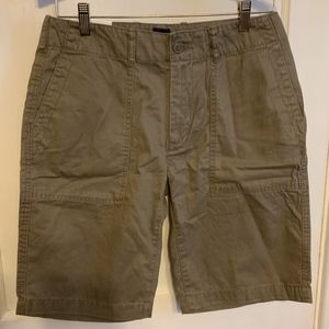 Gap men's belted fatigue flat front shorts NWT